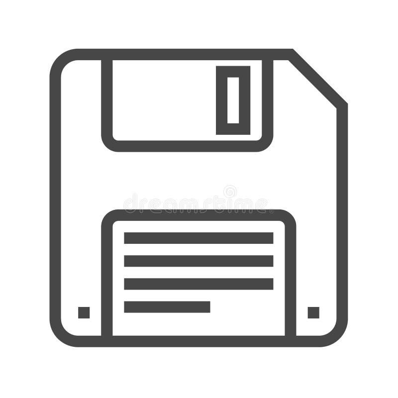 Opadającego dyska linii wektoru ikona ilustracja wektor