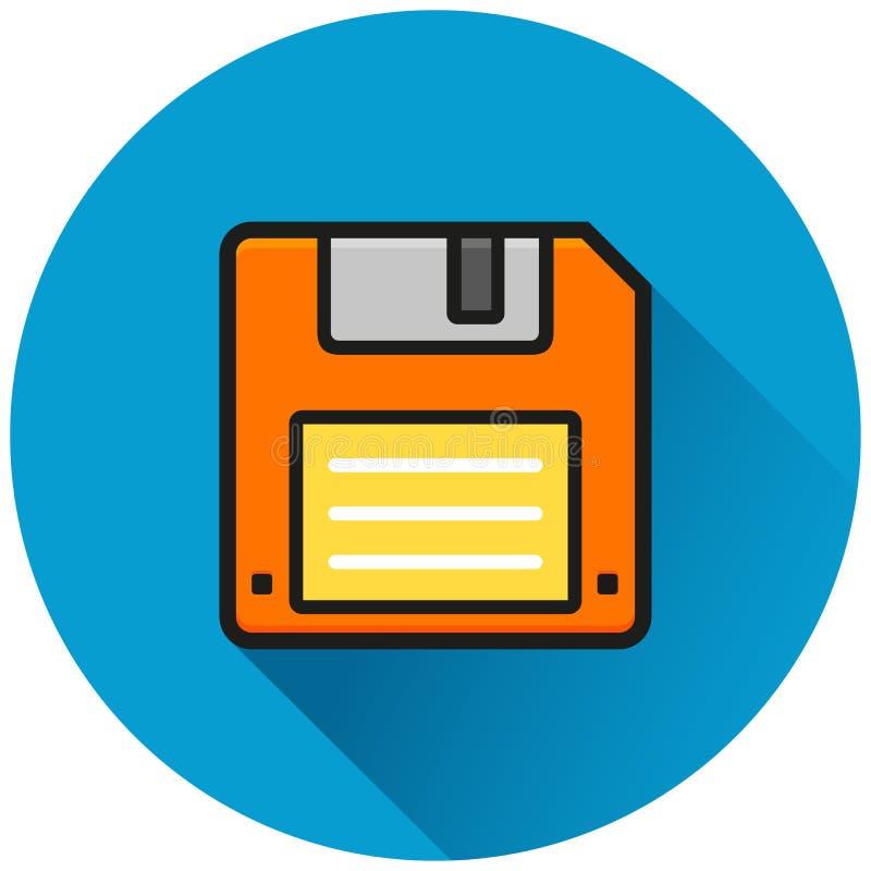 Opadającego dyska okręgu błękita ikona ilustracji