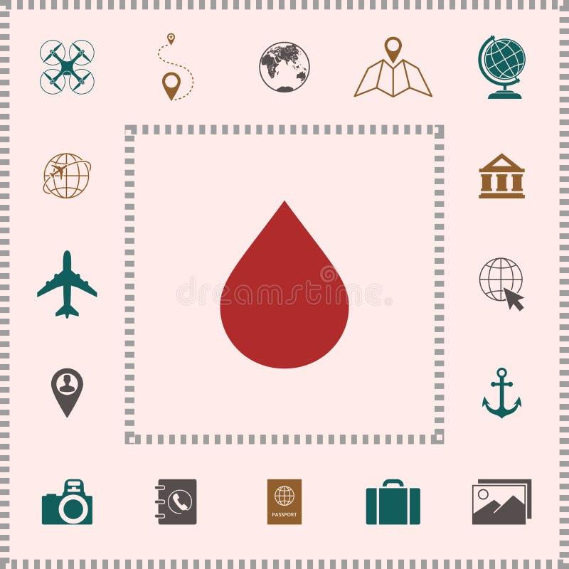 Opadowa symbol ikona royalty ilustracja