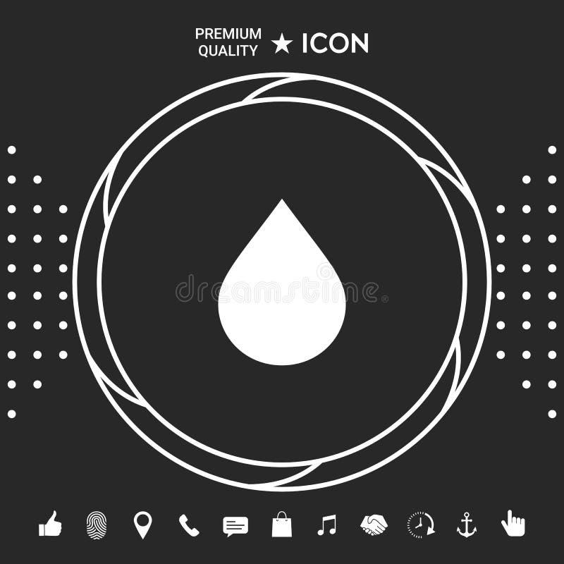 Opadowa symbol ikona ilustracji