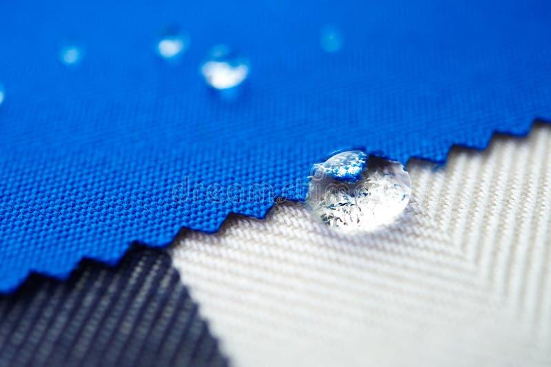 Opadowa woda na brezentowej tkaninie zdjęcia royalty free
