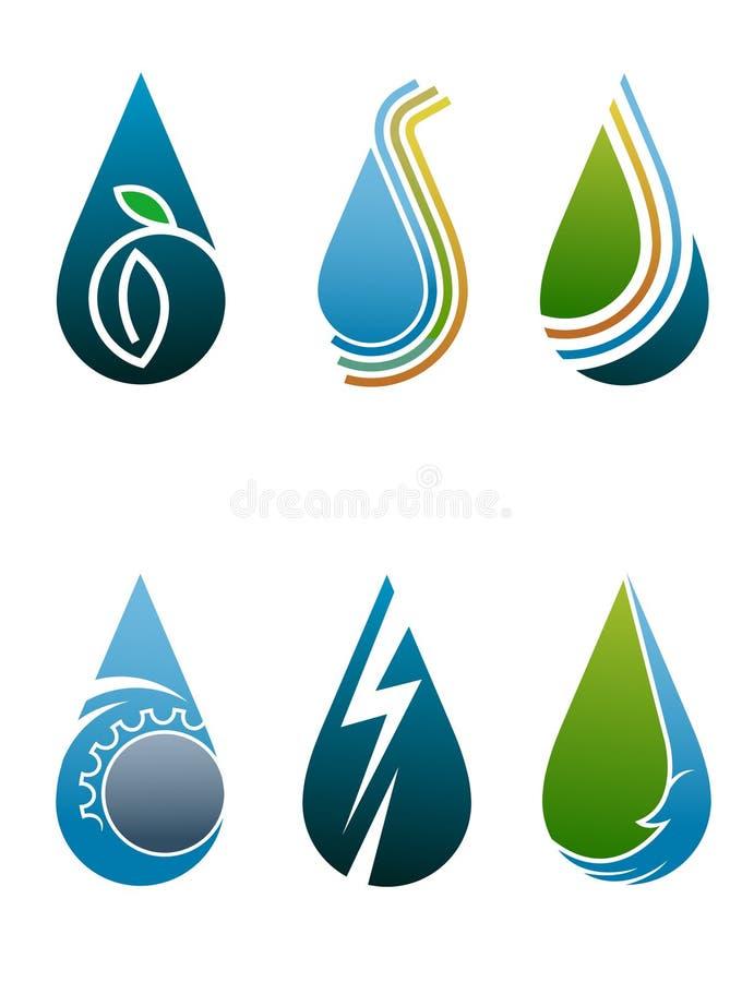 Opadowy logo ilustracja wektor