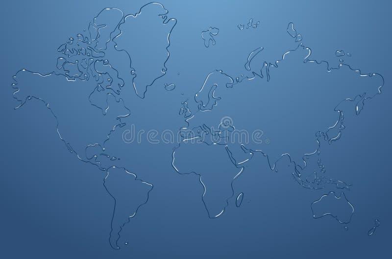opadowy mapy wektoru wody świat royalty ilustracja