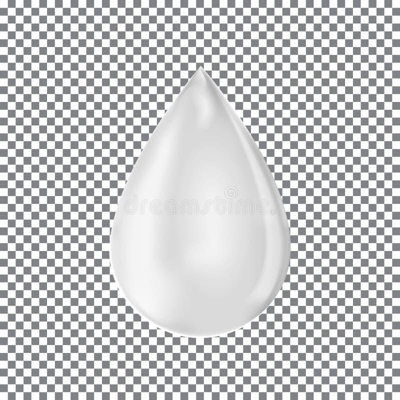 opadowy mleko Przejrzysty kropelkowy wektor royalty ilustracja