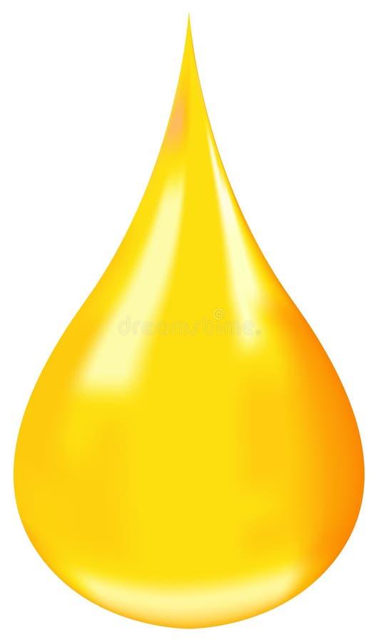 opadowy olej ilustracji