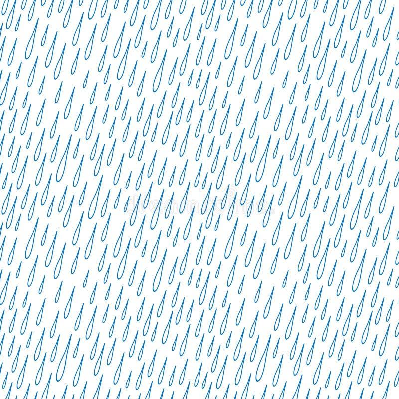 opadowy wzoru deszcz bezszwowy royalty ilustracja