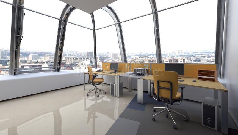 Opakunek wokoło nowożytnego szklanego projekta dla biura ilustracji