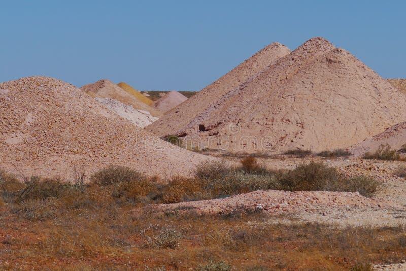 Opal kopalnie w Coober Pedy fotografia stock