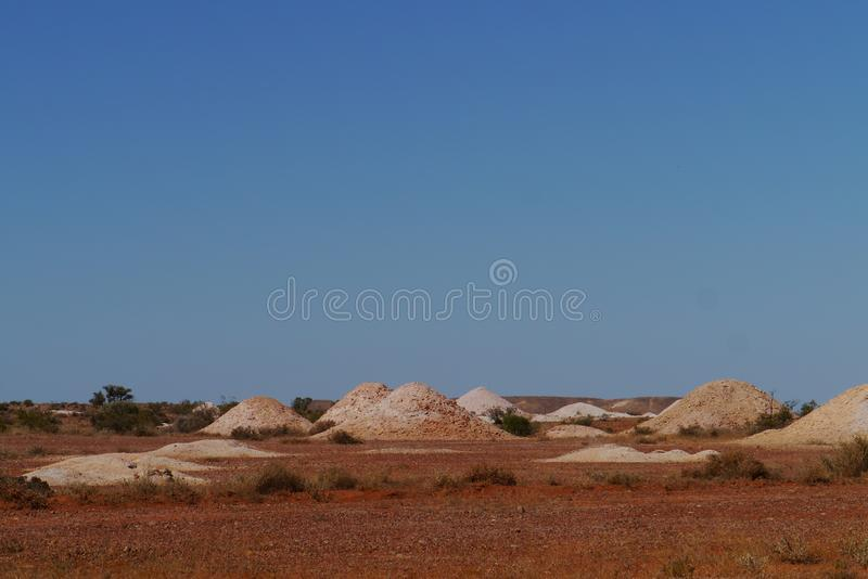 The opal mines in Coober Pedy. Coober Pedy is a town in northern South Australia at the Stuart Highway and is famous for its opal mines stock images
