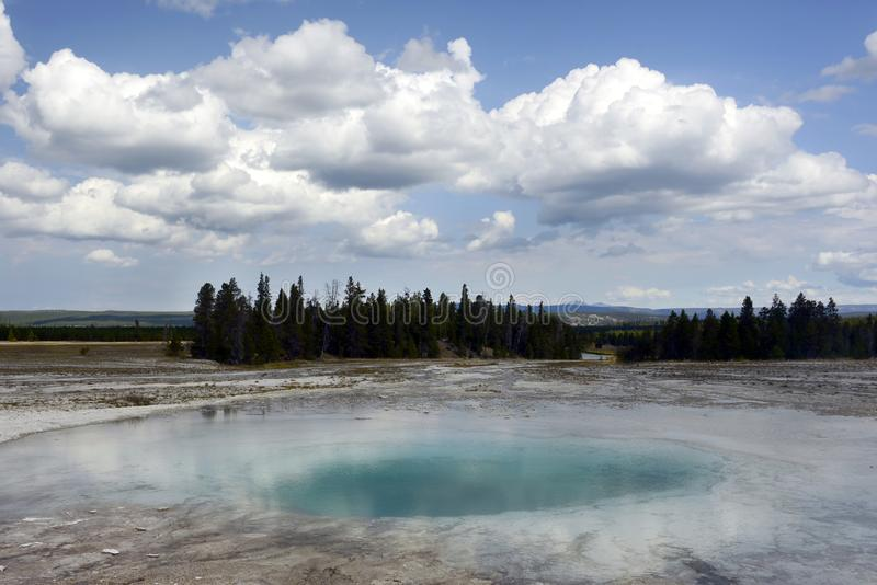 Opal Pool, Grand Prismatic Spring, Yellowstone National Park royalty free stock image