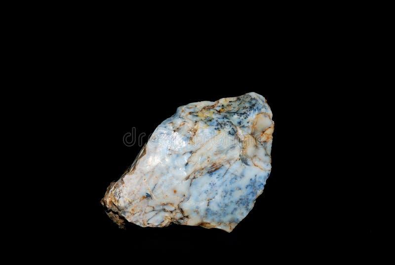 Opale de dendrite de minerais photographie stock