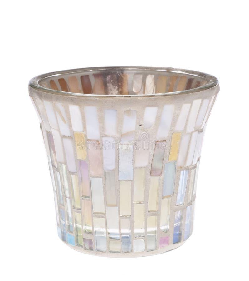 Opalisierende Glas-Kerze-Halterung lizenzfreie stockfotografie