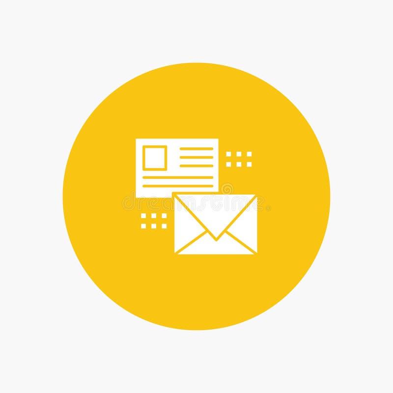 Opancerzanie, rozmowa, emaile, lista, poczta ilustracja wektor