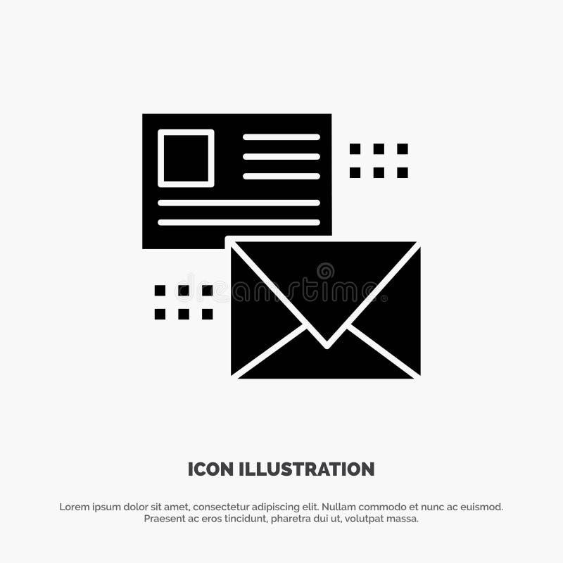 Opancerzanie, rozmowa, emaile, lista, poczta glifu ikony stały wektor ilustracja wektor