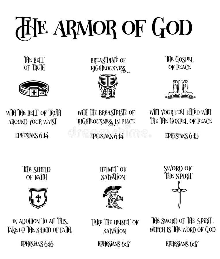 Opancerzenie bóg ilustracja wektor