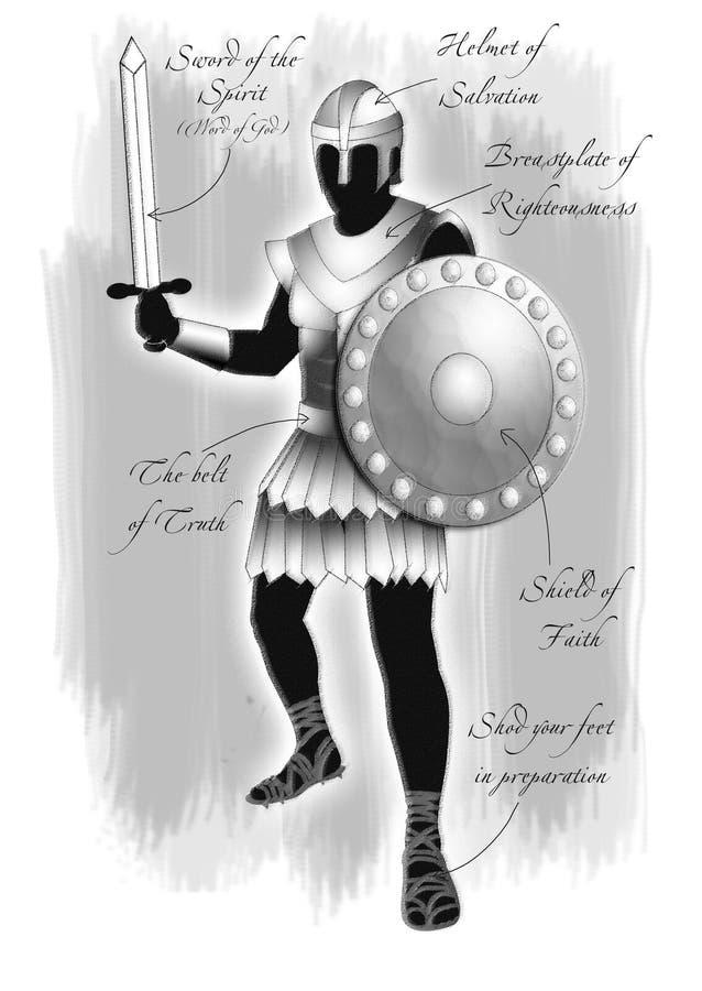 opancerzenie bóg royalty ilustracja