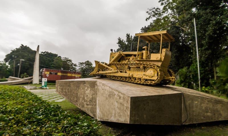 Opancerzonego pociągu pomnik, Santa Clara, Kuba zdjęcia royalty free