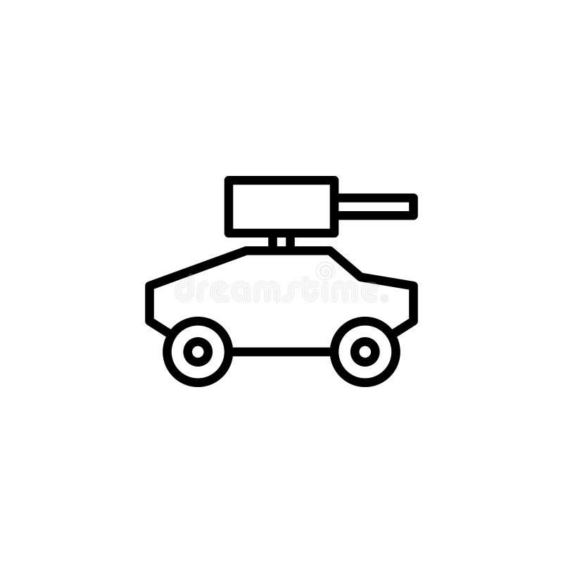 Opancerzonego samochodu ikony zapas transportów pojazdy odizolowywał wektor ilustracja wektor