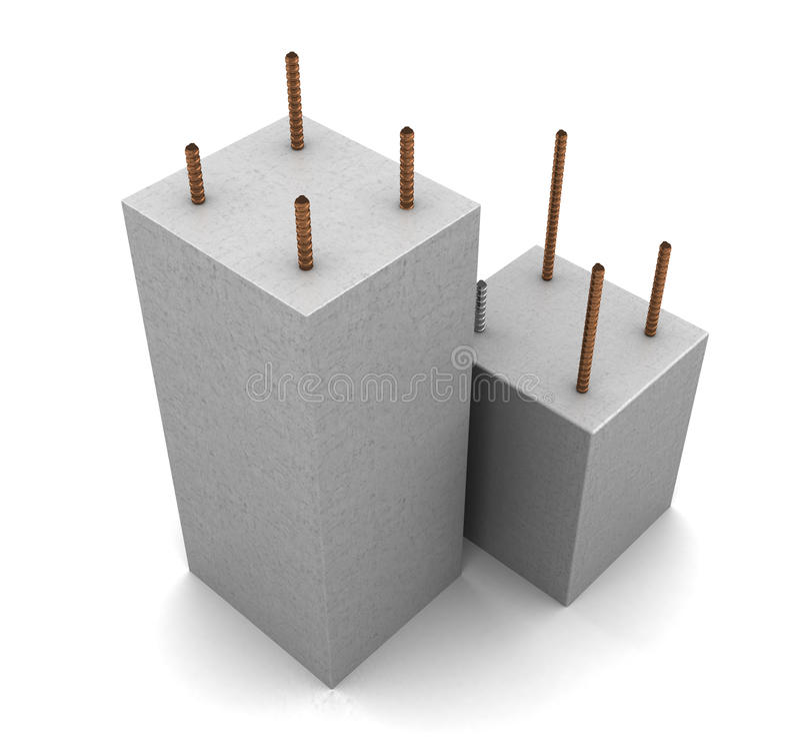 opancerzony beton royalty ilustracja