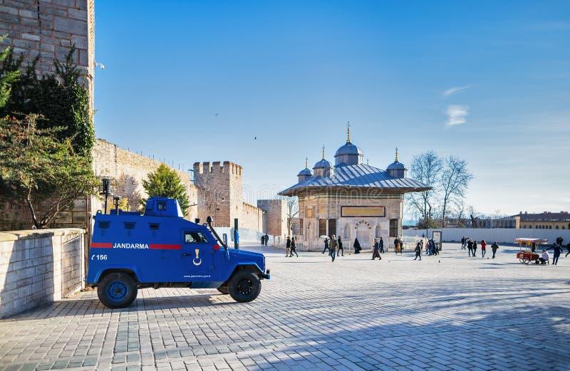 Opancerzony samochód Turecka żandarmeria obrazy royalty free