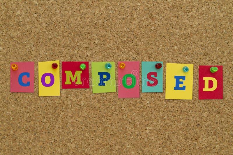 Opanowany słowo pisać na kolorowych kleistych notatkach zdjęcie royalty free
