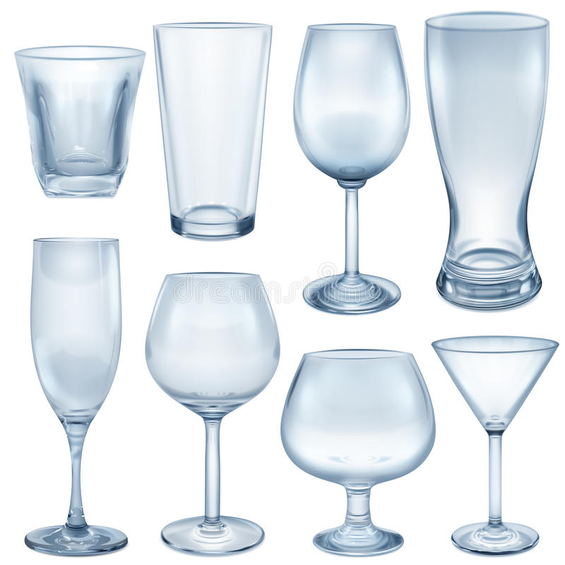 Free Opaque Empty Glasses And Stemware Stock Photography - 67482012