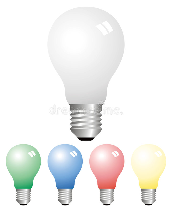 Opaque light bulbs vector illustration