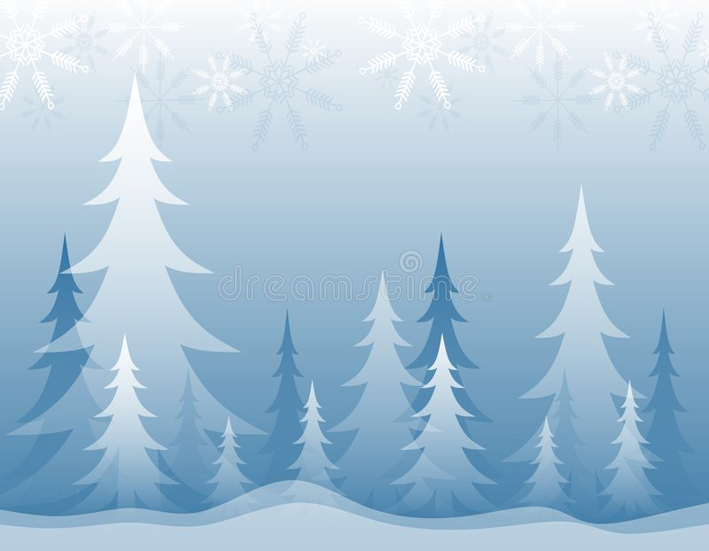 Download Opaque Winter Forest Blue stock illustration. Image of woods - 3598663