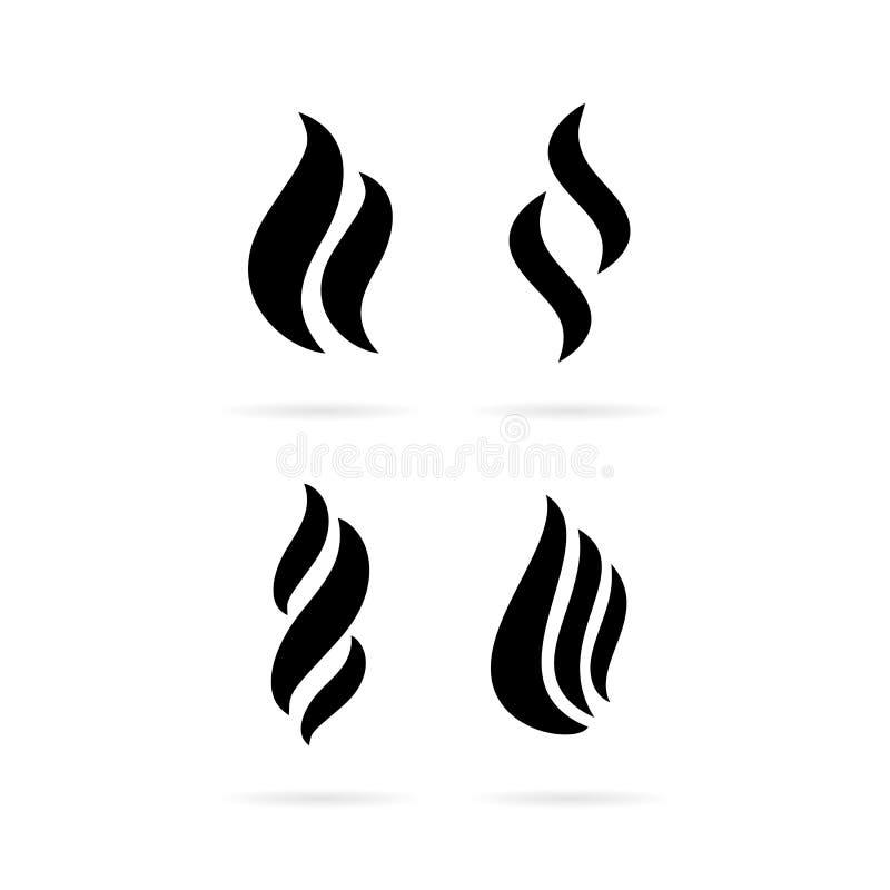 Opar dymna wektorowa ikona royalty ilustracja