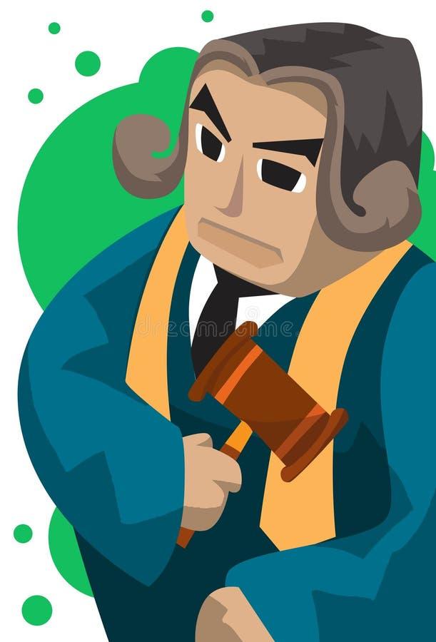 opartisk domare stock illustrationer