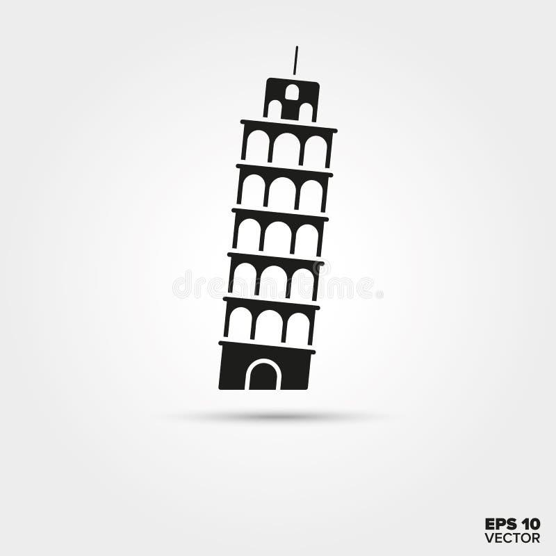 Oparty wierza Pisa ikona ilustracji
