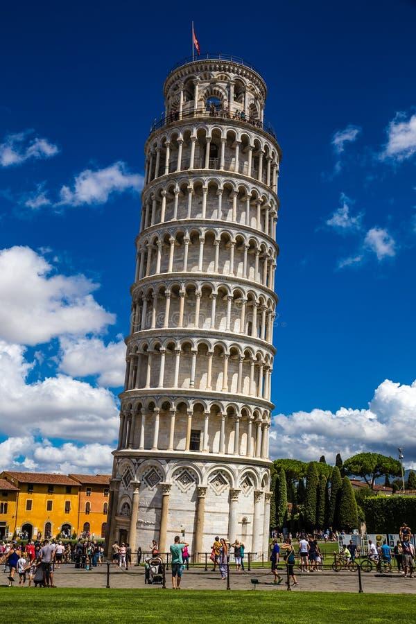 Oparty wierza Pisa, Pisa -, Włochy fotografia royalty free