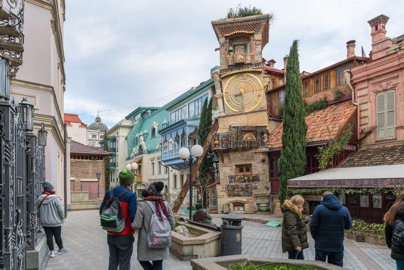 Oparty zegarowy wierza Tbilisi, Gruzja zdjęcie stock