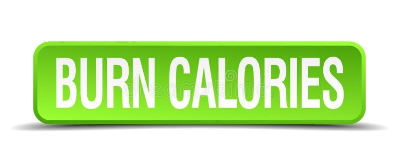 oparzenie kalorii guzik ilustracji