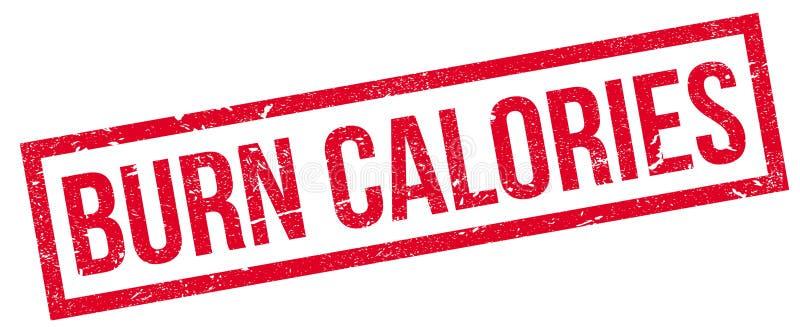 Oparzenie kalorii pieczątka royalty ilustracja