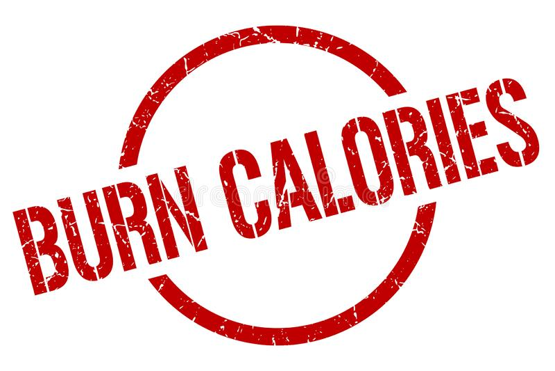 Oparzenie kalorii znaczek ilustracja wektor