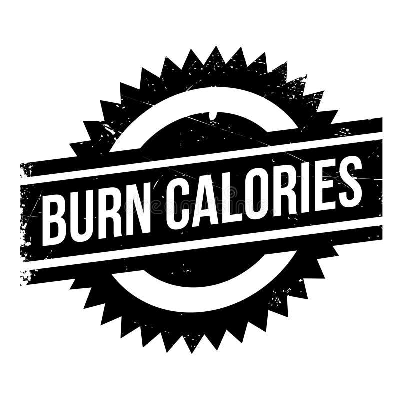 Oparzenie kalorii znaczek ilustracji