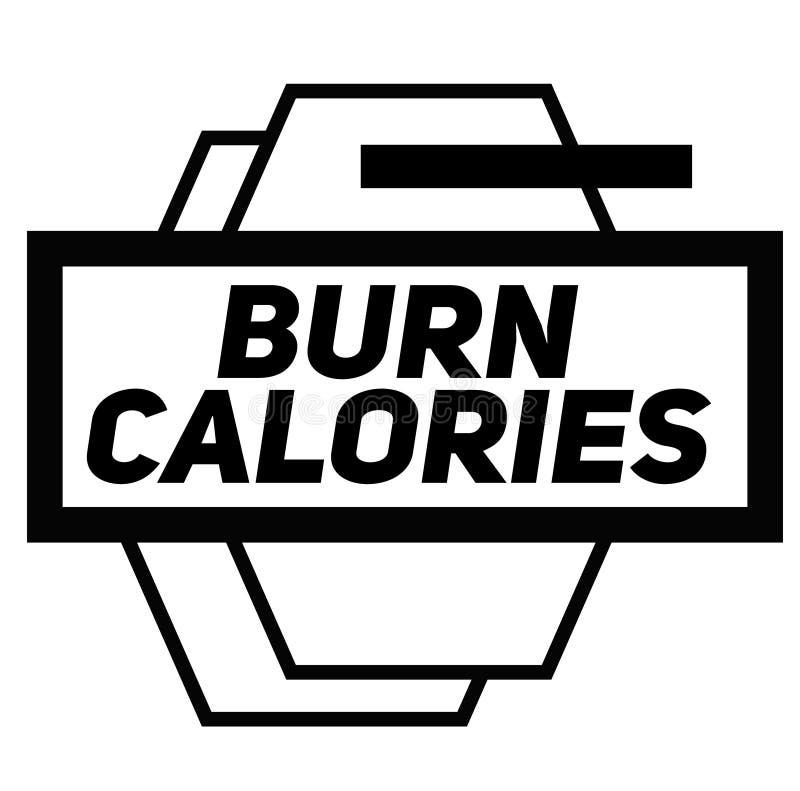 OPARZENIE kalorii znaczek na bielu royalty ilustracja