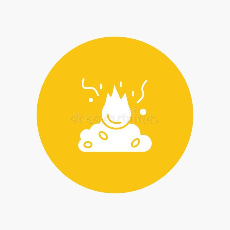 Oparzenie, ogień, śmieci, zanieczyszczenie, dym royalty ilustracja