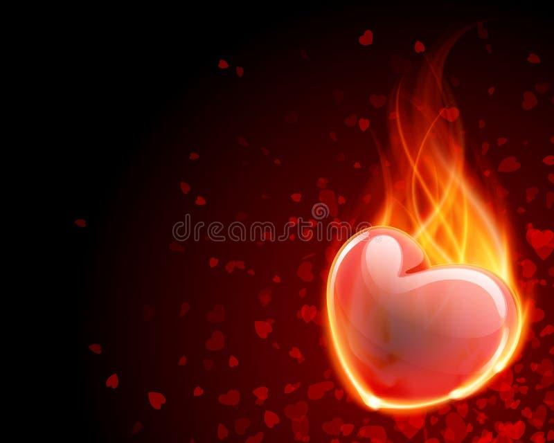 oparzenie ogienia płomienia serce ilustracji