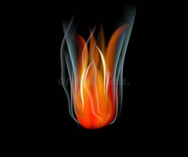 Oparzenie płomienia ogienia wektorowy abstrakcjonistyczny tło ilustracji