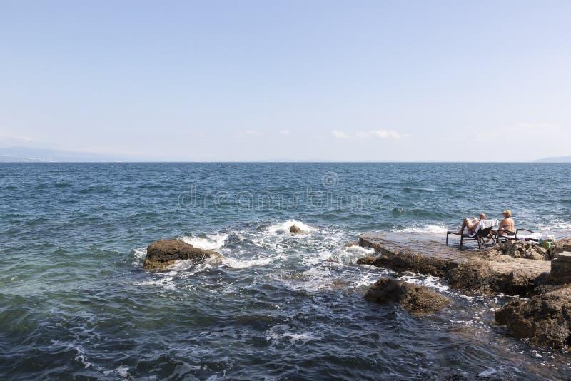 Opatija sur la Mer Adriatique en Croatie photographie stock