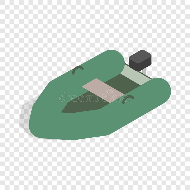 Opblaasbaar boot isometrisch pictogram royalty-vrije illustratie