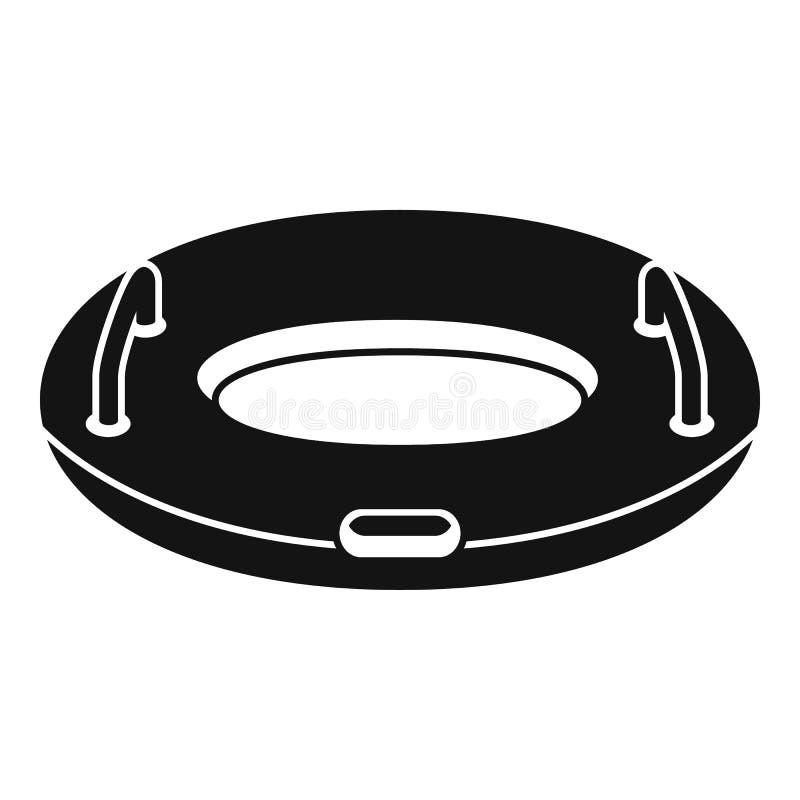 Opblaasbaar ringspictogram, eenvoudige stijl royalty-vrije illustratie