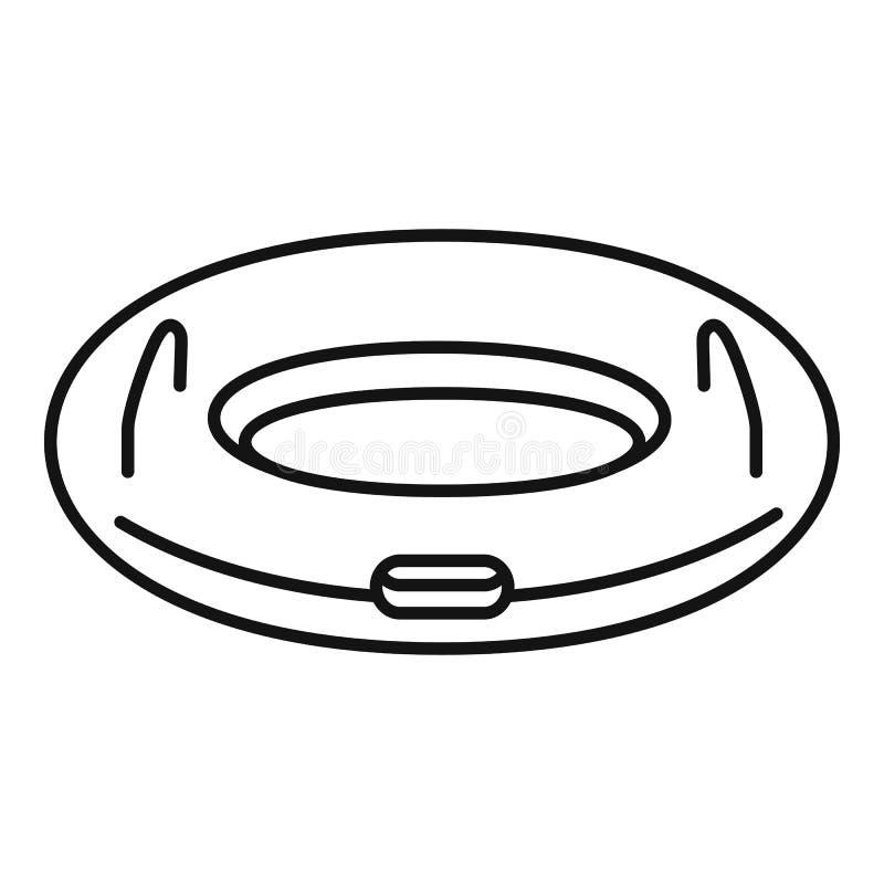 Opblaasbaar ringspictogram, overzichtsstijl royalty-vrije illustratie