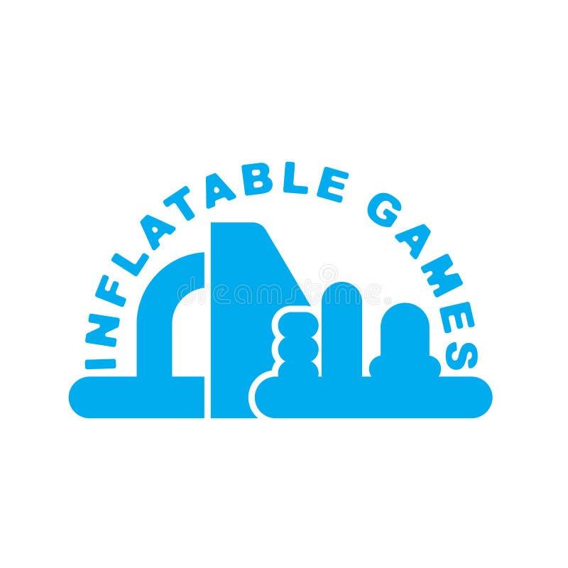 Opblaasbaar Spelenembleem Embleem voor het vermaak van het waterpark royalty-vrije illustratie