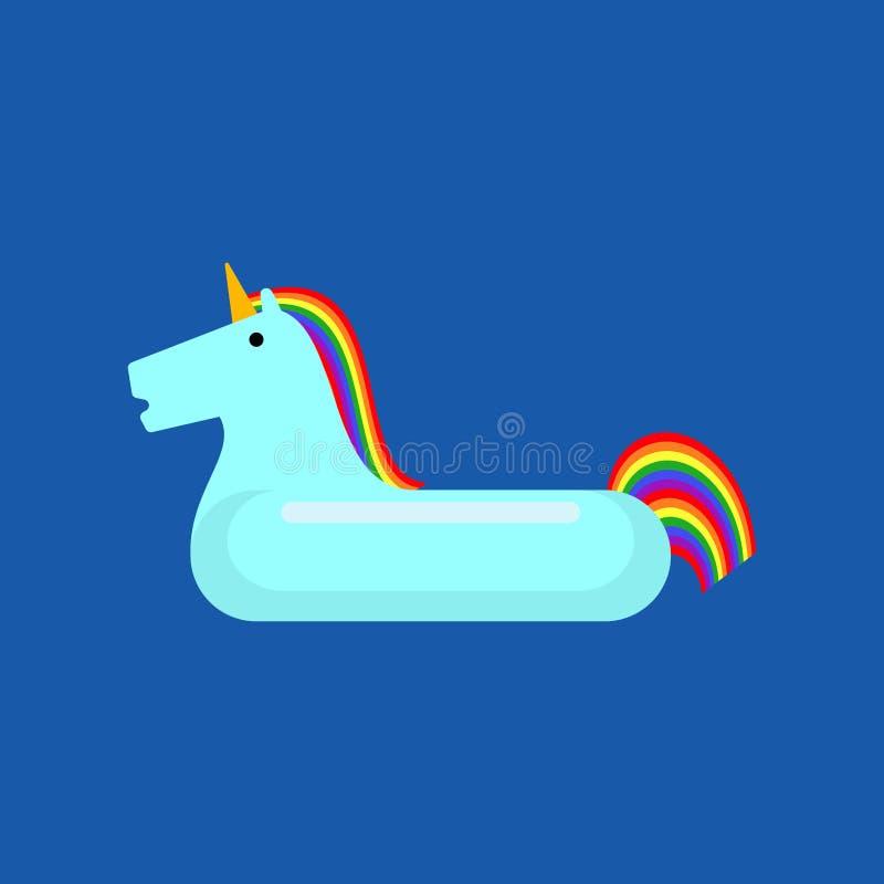 Opblaasbare geïsoleerde eenhoorn Magisch Dierenstuk speelgoed voor het zwemmen vector illustratie