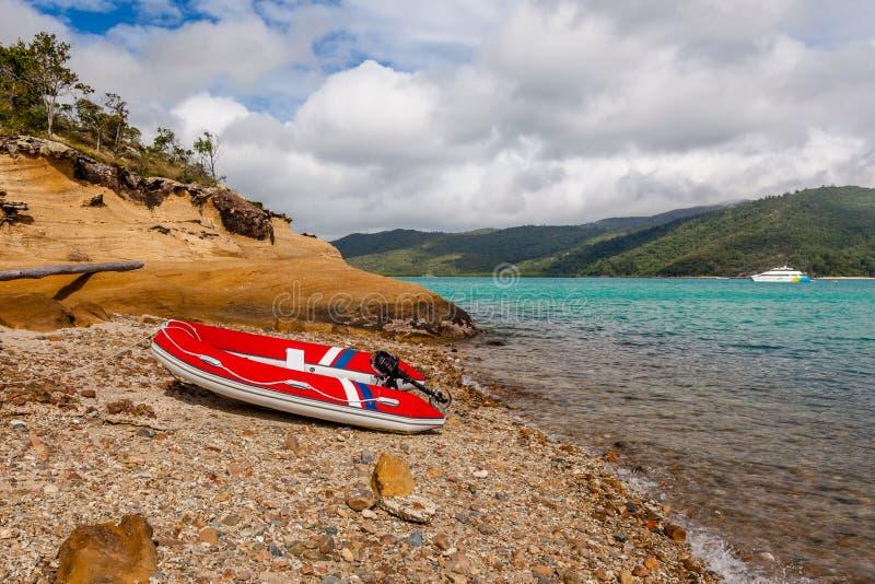 Opblaasbare motorboot royalty-vrije stock foto's