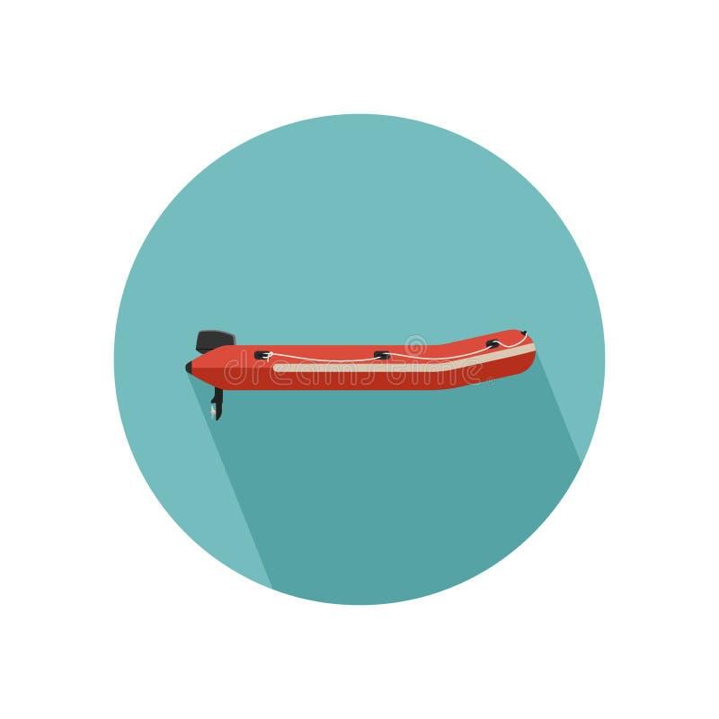 opblaasbare rode boot royalty-vrije illustratie