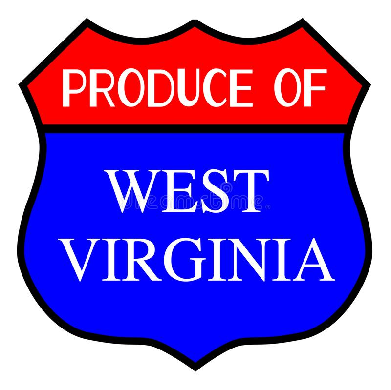 Opbrengst van West-Virginia vector illustratie